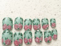 Stick on floral set